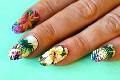 Nail Art Ideas: The best nail decals and stickers for summer - tropical nails