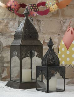 Handmade Moroccan lanterns for my lantern addiction