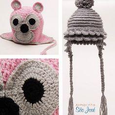 Nossa colaboradora Eliani Rodrigues fez essas lindas toucas infantis com lãs do www.armarinhosaojose.com.br ! Puro charme!  #armarinho #artemanual #artesanato #criatividade #croche #trico #modainverno #handmade #feitoamao #crocheteira #crochebrasil #saojosearmarinho