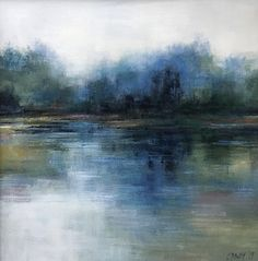 Abstract Blue Reflections, Waterside Landscape by christina dowdy Acrylic/oil ~ . Abstract Blue Reflections, Waterside Landscape by christina dowdy Acrylic/oil ~ 30 x 30 Abstract Landscape Painting, Abstract Canvas Art, Watercolor Landscape, Oil Painting On Canvas, Landscape Paintings, Best Abstract Paintings, Impressionist Landscape, Blue Painting, Watercolor Artists