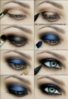 Navy and black smokey eye, can't wait to try this!