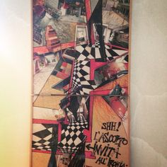 Collage on wood