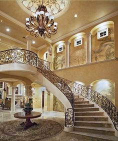 estate foyers | Look At Some Grand Foyers From Houzz.com « Homes of the Rich ...