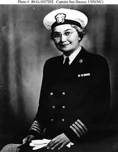 Captain Sue S. Dauser, (NC) USN Portrait photograph, taken during World War II. She was Superintendent of the Navy Nurse Corps from 1939 into 1945, and was the first Superintendent to hold the rank of Captain. Official U.S. Navy Photograph, now in the collections of the National Archives ~