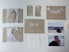 My homemade Recycled, DIY, Lace, Luggage Tag wedding invitations.  Love, love, love.