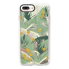 Palm Gold iPhone and iPod Case - iPhone 7 Plus Case And Cover (€35) ❤ liked on Polyvore featuring accessories, tech accessories, phone case, iphone case, apple iphone case, iphone cases, iphone cover case, gold iphone case and clear iphone case