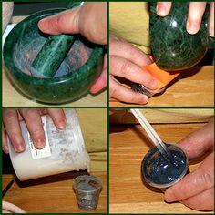 how to make a colored wax resist (like cuerda seca?)