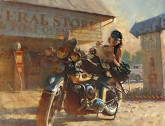 Ideas Motorcycle Art Painting Harley Davidson David Mann For 2020 Harley Davidson Kunst, Harley Davidson Iron 883, Harley Davidson Motorcycles, Hd Vintage, Photo Vintage, Vintage Woman, Vintage Girls, Motorcycle Art, Bike Art