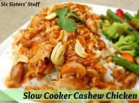 Six Sisters Slow Cooker Cashew Chicken is one of our family favorites! So easy to throw in the slow cooker! #sixsistersstuff