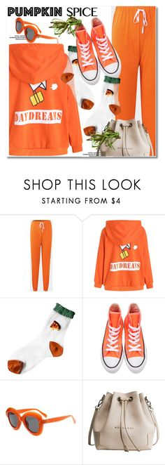 """""""Monochrome: Pumpkin Spice"""" by gamiss ❤ liked on Polyvore featuring Converse, casual, pumpkinspice, zaful and gamiss"""