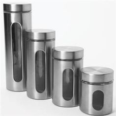 4Pc Palladian SS Canister Set
