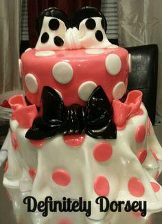 Polkadot Minnie Mouse cake Chef Sonya Dorsey creation