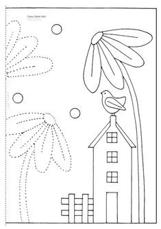 ru / Фото - Creative Quilting and Applique Ideas - vihrova Quilting Templates, Applique Templates, Applique Patterns, Applique Quilts, Embroidery Applique, Quilting Projects, Quilting Designs, Embroidery Stitches, Machine Embroidery