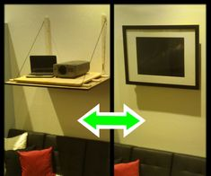 A Video Projector Stand That Won T Screw Up Your Wall Ikea Ideas
