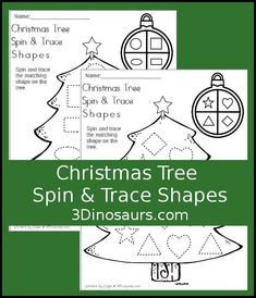 Christmas and Christmas trees have to be a favorite for me! It is such a fun theme to work with. Christmas Math, Preschool Christmas, Christmas Themes, Christmas Crafts, Christmas Printable Activities, Christmas Activities For Kids, Winter Activities, Shape Tracing Worksheets, Tracing Shapes