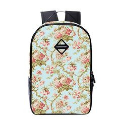 Book Bags BEFAiR Girls Floral Design Backpack Casual Daypacks for College -- See this great image  : Christmas Luggage and Travel Gear