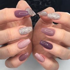 In seek out some nail designs and some ideas for your nails? Listed here is our set of must-try coffin acrylic nails for trendy women. Aycrlic Nails, Pink Nails, Cute Nails, Hair And Nails, Coffin Nails, Fall Nails, Pink Coffin, Green Nails, Black Nails