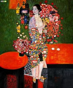 This fine art photo print features the stylish beauty of a Dancer holding flowers from a colorful painting by Gustav Klimt. This particular painting seems to have both a Japanese and impressionistic style as well as the symbolic flare Klimt is known for. Art Klimt, Kunst Online, The Dancer, Pics Art, Art For Art Sake, Oeuvre D'art, Japanese Art, Painting & Drawing, Amazing Art