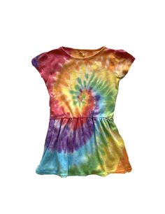 Toddler Dress Custom Tie Dye 2T and 4T You choose tie dye style and colors