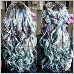 Metallic obsession by @bescene hair by @tokyostylez braid by @maayanbescene #love #beauty #hairaddiction