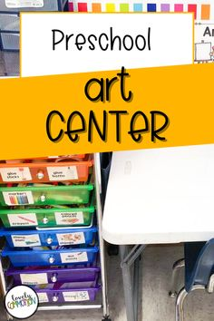 The Art Center in a preschool classroom is a place for children to explore different art materials, express themselves through creativity and use fine motor skills. See what is inside my Art Center. Art Center Preschool, Preschool Classroom, Preschool Art, Play Based Learning, Learning Centers, Classroom Organization, Organization Ideas, Center Labels, Stamp Pad