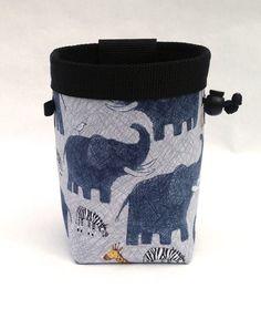 elephant, zebra, giraffe chalk bag, rock climbing
