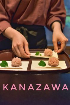 Wagashi and tea ceremony in Kanazawa in Ishikawa prefecture. Ishikawa, Mochi, Best Japanese Restaurant, Kanazawa Japan, Visit Japan, Japan Travel, Japan Trip, Tea Ceremony, Osaka