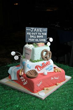 Bar Mitzvah- Sports Theme-sports cake-baseball cake by Gold Events , the premier Bar/Bat Mitzvah Planner in Massachusetts and Rhode Island M...
