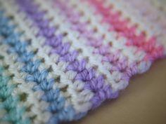 Half Treble/Half Double stripe crochet pattern - Bella Coco by Sarah-Jayne