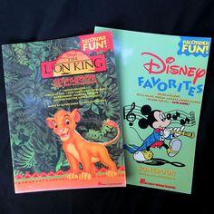 2 Recorder Disney Favorites Songbook & Lion King Songs Easy Sheet Music Mickey #HalLeonard