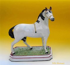LEEDS POTTERY PEARWARE HORSE