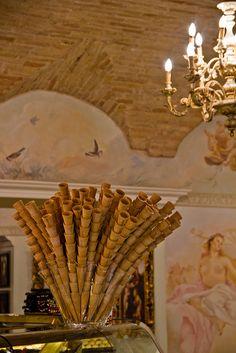 Interior of Gran Caffé. Assisi, Italy, 2012.