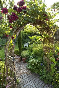 11 Diy Canopy Ideas For Your Garden(Diy Garden Arch) Garden Arbor, Backyard Garden Design, Garden Landscaping, Garden Bed, Garden Path, Willow Garden, Lush Garden, Fruit Garden, Balcony Garden