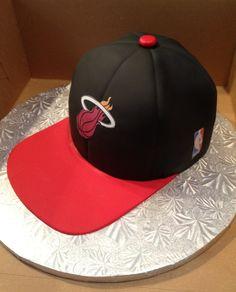 Miami Heat hat cake annacakes.com