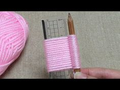 Awesome Flower Craft Ideas with Woolen - Hand Embroidery Trick - Sewing Hack - Easy Wool Flower - YouTube Diy Embroidery Flowers, Hand Embroidery Patterns Free, Simple Embroidery, Woolen Flower, Woolen Craft, Machine Applique Designs, Sewing Machine Projects, Yarn Flowers, Flower Crafts