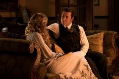 Ogden (Hélène Joy) and Murdoch (Yannick Bisson) discuss not only Bernierbut also Murdoch becoming a father. Murdock Mysteries, Julia Williams, Detective Shows, Becoming A Father, Steampunk Costume, Fandoms Unite, Guy Names, Great Stories, Favorite Tv Shows