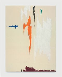 Clyfford Still, Untitled 1955  Oil painting using very simple colors and designs