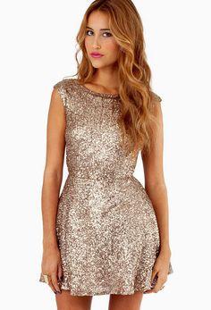 Gold Sleeveless Backless Slim Dress