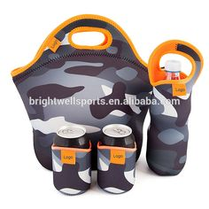 2017 New Arrivals Neoprene Lunch Bag Insulated Lunch Tote With Bottle Holder