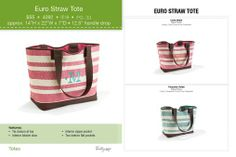 Euro Straw Tote - NEW - Spring 2014