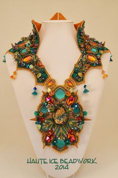 HAUTE ICE BEADWORK: May 2014 Use this as design inspiration for Maleficent collar.