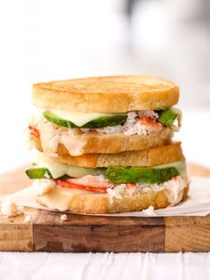 Crab and Avocado Grilled Cheese #grilledcheese #foodporn #sandwich http://livedan330.com/2015/01/08/crab-avocado-grilled-cheese/