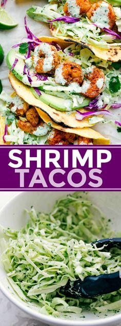Shrimp Tacos | Chelsea's Messy Apron