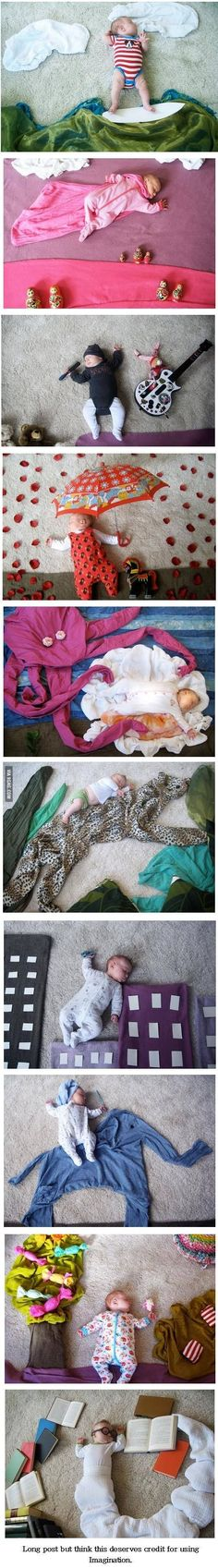 New Born Baby Photography Picture Description Using Imagination, You're doing it right.