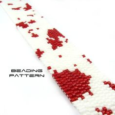Peyote Cuff Pattern, Bead Your Own Bracelet, Dexter Inspired: BLOOD SPATTER. £4.00, via Etsy.