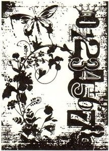 Tim Holtz Rubber Stamp FAIRY GARDEN Stampers Anonymous P4-1402 Preview Image