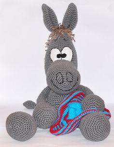 crochet pattern amigurumi donkey pdf by MOTLEYCROCHETCREW