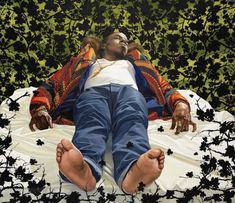 The Lamentation Over the Dead Christ. Kehinde Wiley, 2008. Kehinde Wiley, Black Artists, American Art, Art History, Pop Art, Hipster, Creative, Christ, Photography