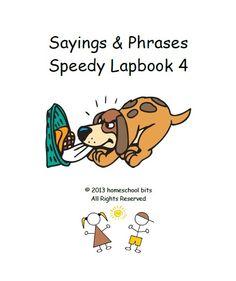 Sayings & Phrases - Speedy Lapbook 4 - homeschool bits      speedy lapbooksCurrClick