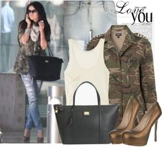 Selena Gomez Style. This is the ONLY way I would EVER wear camo.